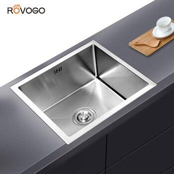 ROVOGO Single Bowl Undermount Stainless Steel Kitchen Sink, Handmade Bar or Prep Kitchen sink