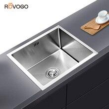 ROVOGO אחת קערת Undermount נירוסטה מטבח כיור, בעבודת יד בר או Prep מטבח כיור
