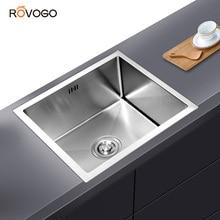 ROVOGO lavello da cucina sottopiano in acciaio inossidabile a vasca singola, lavello da cucina fatto a mano o da cucina