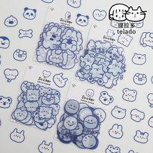 40 Pçs/set Bonito Pequenos Animais de ESTIMAÇÃO Pacote Adesivo Planejador Diário Papelaria Scrapbooking Etiqueta da Vara Adesivos Material Escolar Kawaii