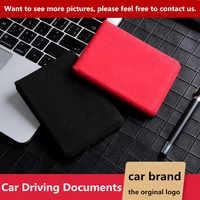 Auto Fahr Dokumente Auto Führerschein Kreditkarte Tasche Fall Abdeckung Halter Für Cadillac logo XT4 XT5 CT6 Escalade ATSL SRX XTS