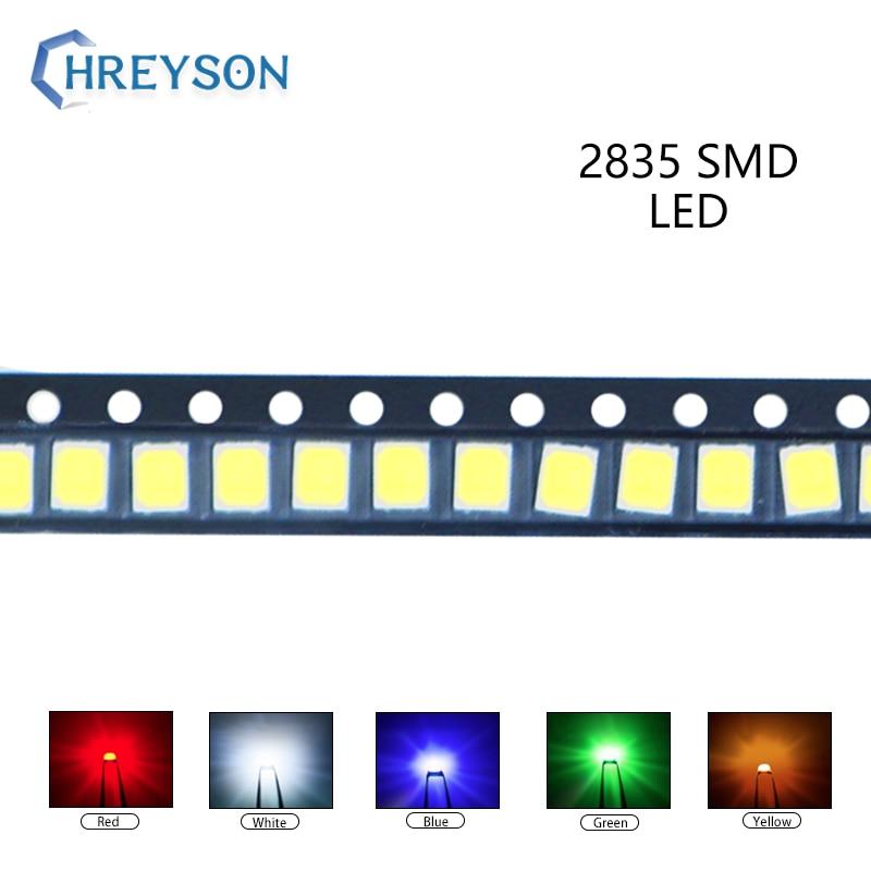 100pcs 2835 SMD LED Electron Component Blue Yellow White Green Red Orange Purple RGB High Light Emitting Diode DIY Kit