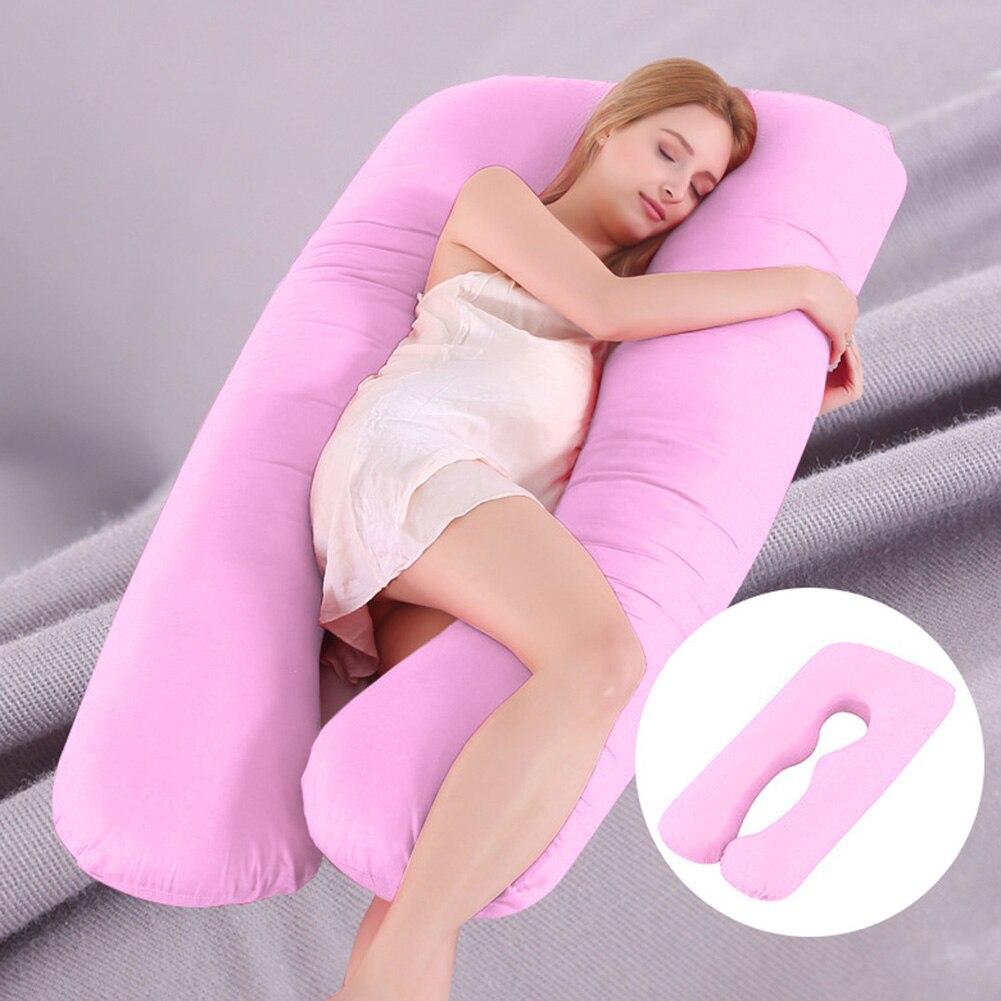 Pregnant Women Sleeping Support Pillow Cotton Pillowcase U Shape Maternity Pillows Pregnancy Side Sleeper Bedding Dropshipping