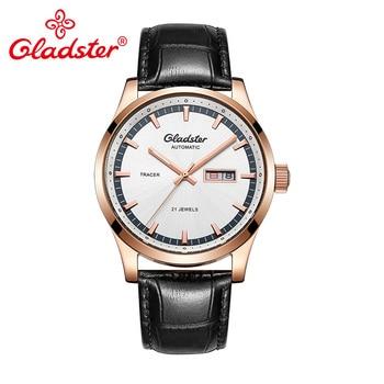 Gladster Luxury Brand Japanese MIYOTA Automatic Mechanical Men Watch Leather Male Clocks Auto Date Golden Gentlemen Wristwatches