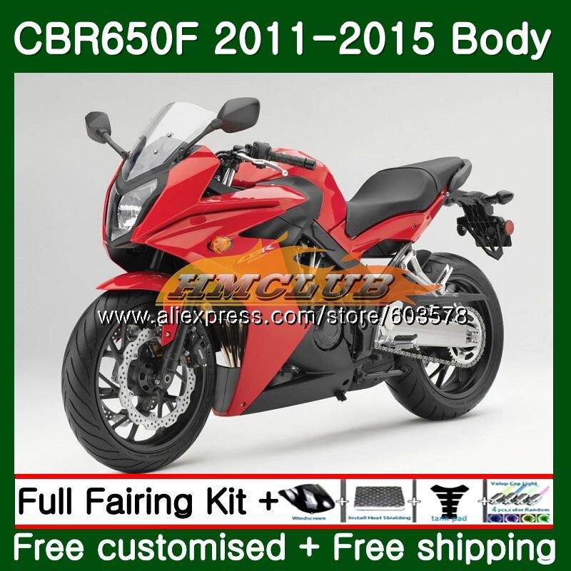CBR-650F Pour HONDA CBR 650F 650 F 2011 2012 2013 2014 2015 130CL. 4 CBR650 F CBR-650 CBR650F 11 12 13 14 15 Usine Carénage rouge