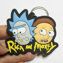 Rick And Morty Keychain Key Chain Cute Anime Cartoon Kids Key Ring Gift Porte Clef new anime rick and morty backpack anime bags student oxford schoolbags