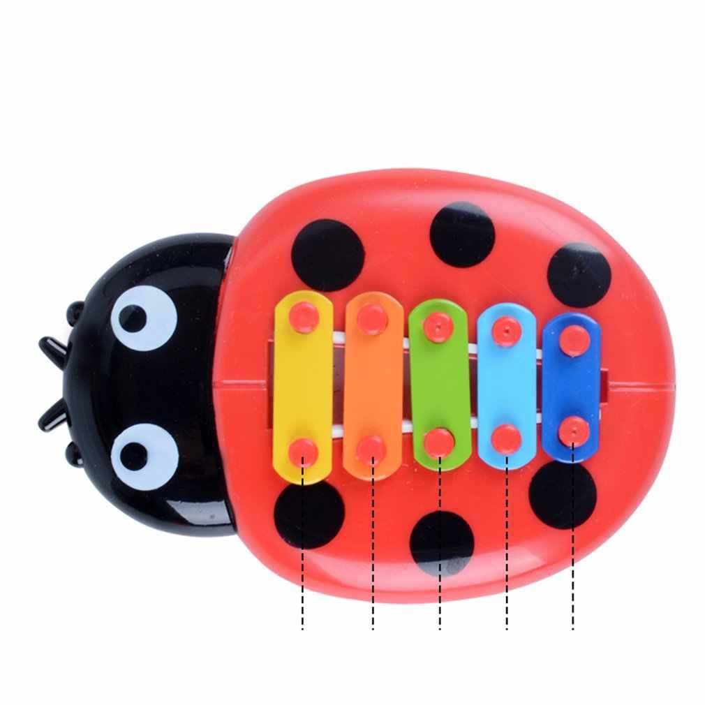 طفل لغز الحشرات اليد تدق على البيانو التعليم المبكر الموسيقى اوكتاف الطفل قرع أداة لعبة موسيقية