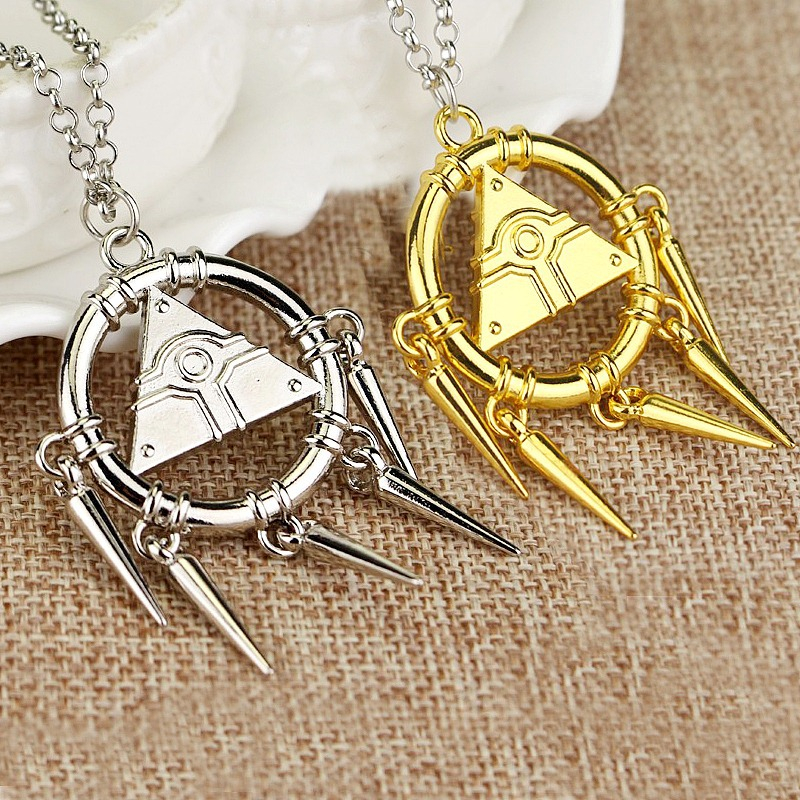 USA Yami Bakura Ryo Millennium Puzzle Gold Wheel Wisdom Necklace Fans Pendant