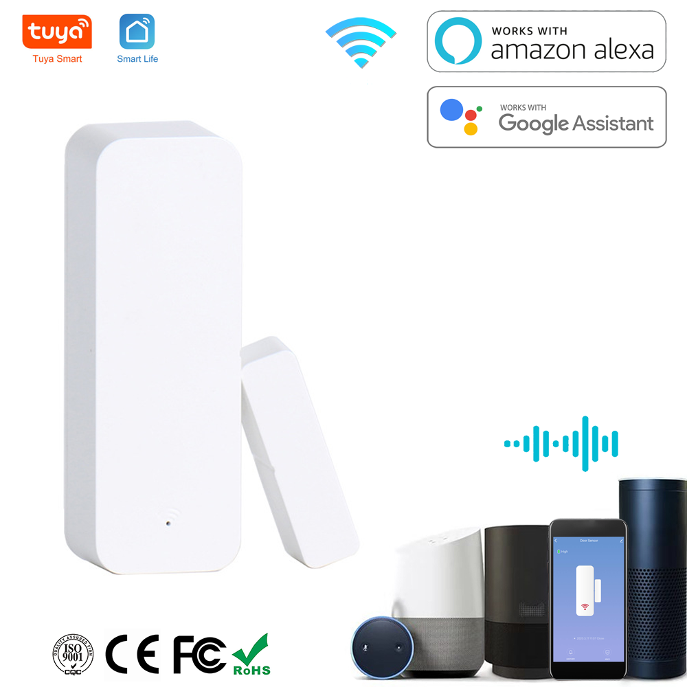 Door sensor Window Contact Open Close tuya WiFi APP Remote Control Compatible With Alexa Google Assistant