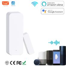 Door sensor Window Contact Open Close tuya WiFi APP Remote Control Compatible With Alexa Google Assistant