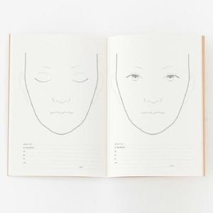 Image 5 - A4 Facechart נייר איפור נייד מקצועי איפור אמן עיסוק תבנית איפור ציור ספר