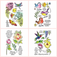 brandy smith clear wishes Clear Transparent Stamps Birdy Floral Butterflies Wishes Sentences DIY Scrapbooking Album Craft Paper Cards Making Template 2020