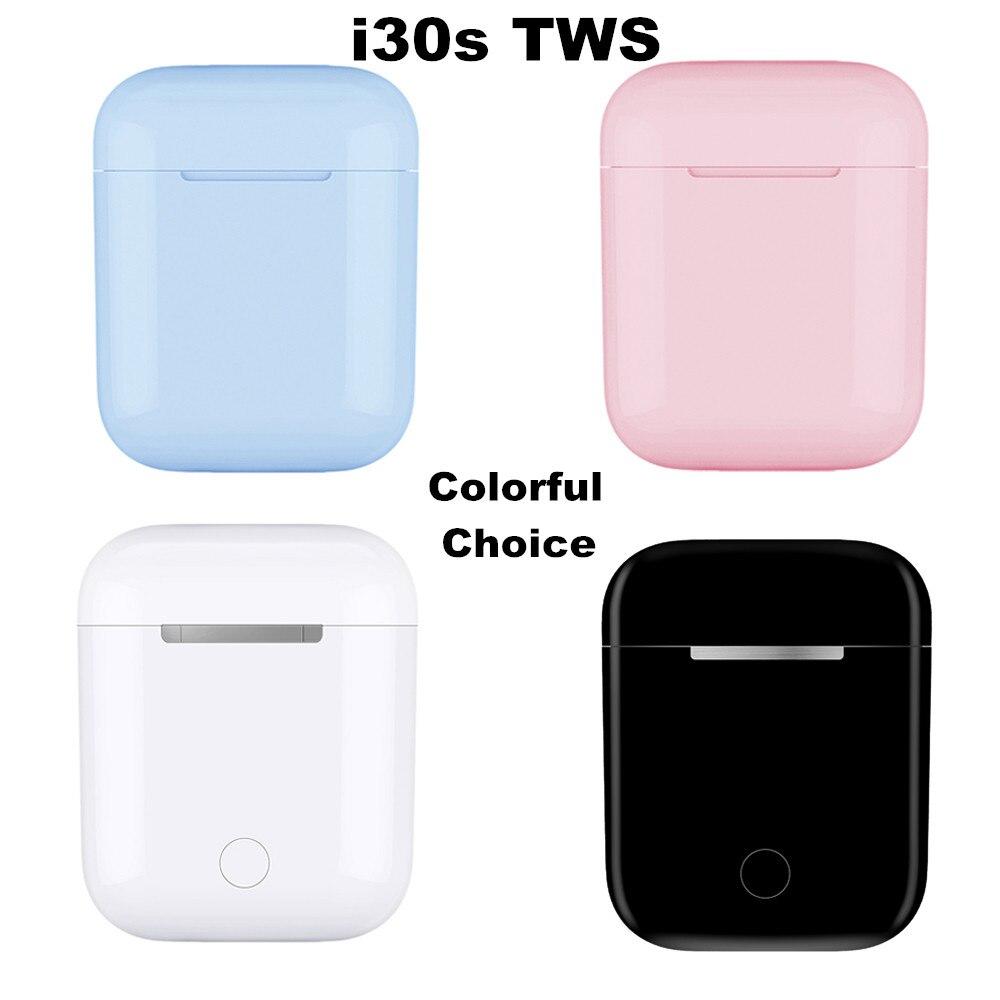 I30s date TWS écouteurs sans fil coloré utilisation séparée Pop up Bluetooth 5.0 Hifi son PK W1 puce i20 i30 i60 i90 i100 tws