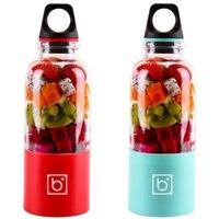 2 Pcs 500Ml Portable Juicer Cup USB Rechargeable Electric Automatic Bingo Vegetables Fruit Juice Tools Maker Cup Blender Mixer B|  -