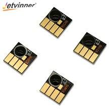 Jetvinner para hp950 microplaquetas de redefinição automática para hp 950 951xl cartucho de tinta arc chips para hp 8100 8600 8610 8615 8625 8660 8680 impressoras