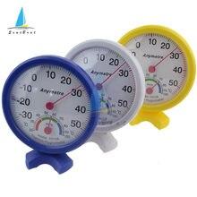 Mini yuvarlak kapalı açık termometre higrometre ev ofis duvar montaj sıcaklık nem monitörü buzdolabı ölçü aracı TH108
