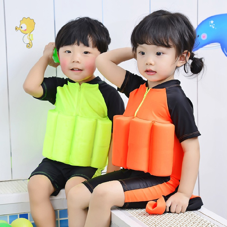 2017 New Style Children Buoyancy Tour Bathing Suit One-piece Shorts Baby Learn Bathing Suit With Celebrity Style Swimming