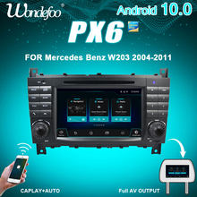 Wondefoo PX6 10 2 DIN Android rádio Do Carro Para Mercedes Benz W203 W209 W219 W169 A160 C180 C200 C230 C240 CLK200 auto de áudio estéreo