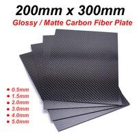 200mm X 300mm 0.5mm 1mm 1.5mm 2mm 3mm 4mm 5mm 탄소 플레이트 패널 시트 높은 복합 경도 소재 탄소 섬유 보드