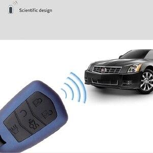 Image 5 - Z włókna węglowego żel krzemionkowy obudowa kluczyka do samochodu obudowa Shell dla Cadillac Escalade CTS DTS XTS ATS ATS L XLS SRX 2015 28T CTS V XT5 CT6 ESV