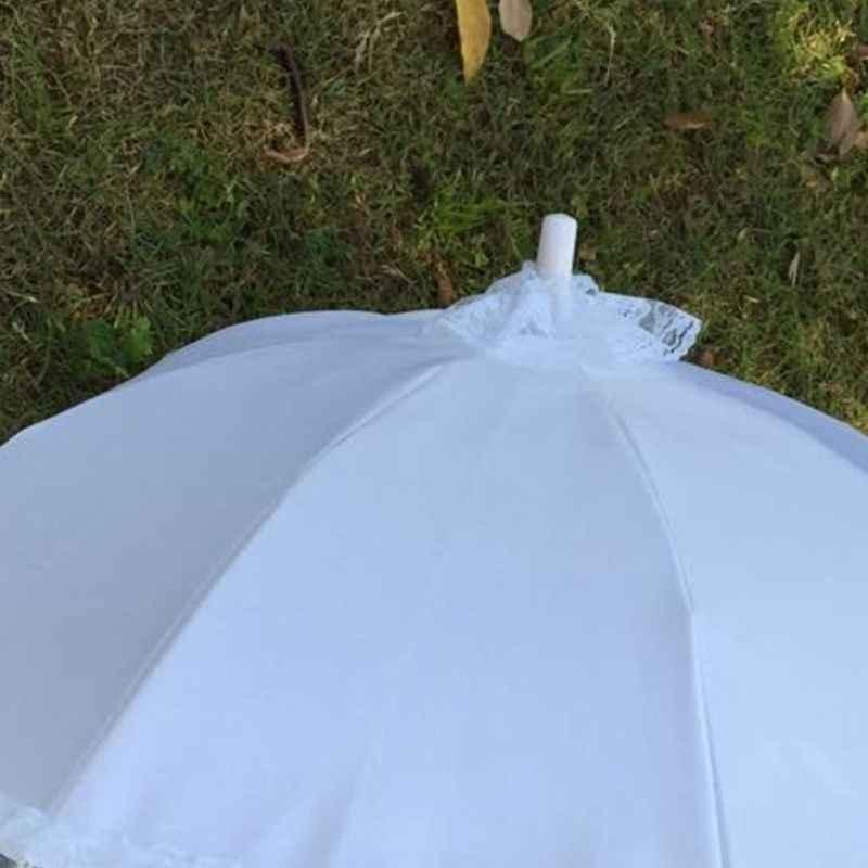 ルウェディングブライダルパラソル傘中空レース白ロマンチックな写真の小道具装飾傘フラワーガール