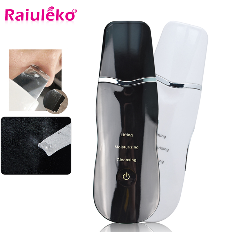 Ultrasonic Skin Scrubber Face Cleanser Blackhead Acne Removal Facial Spa Vibration Massager Ultrasound Peeling Lifting Scrubber