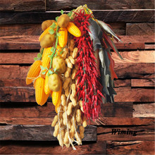 Simulation Vegetables bunches model corn eggplant tomato green pepper cucumber For Home Restaurant Kitchen decoration