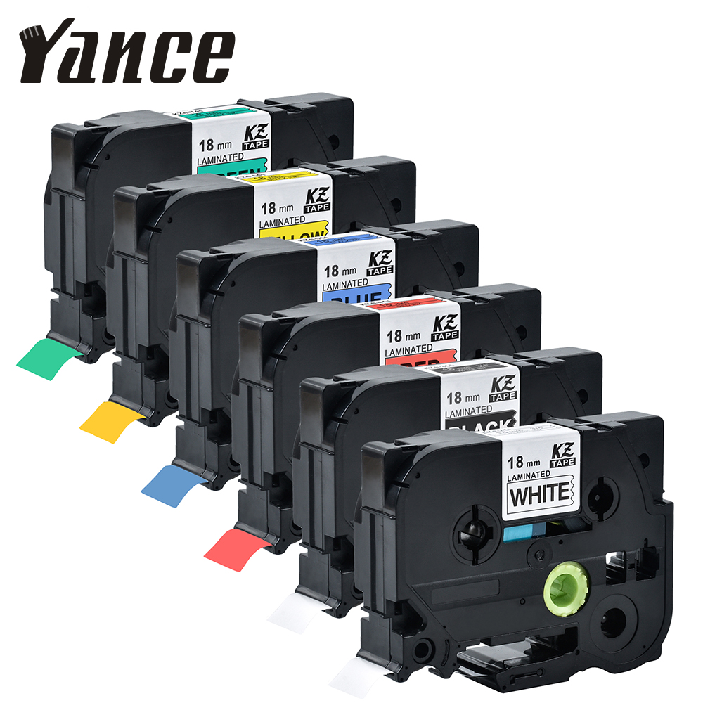 Yance <font><b>Tze</b></font> Tape Compatible brother <font><b>tze</b></font> <font><b>241</b></font> tze241 <font><b>18mm</b></font> Black on white <font><b>tze</b></font>-<font><b>241</b></font> <font><b>tz</b></font>-<font><b>241</b></font> <font><b>tze</b></font>-141 for brother p-touch label printer image