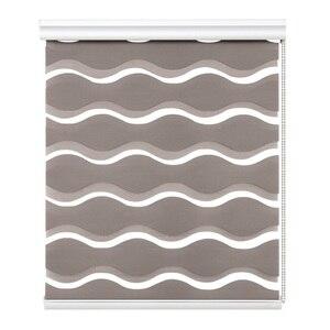 Image 2 - Dalga tipi yüksek kaliteli zebra jaluzi 50% ~ % 90% gölgeleme oranı çift katmanlı moda gündüz gece perdeleri oturma odası için ücretsiz kargo