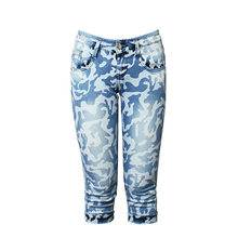 2020 большой Размеры Женские повседневные джинсы летние камуфляжные