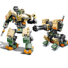 2019 Compatible legoinglys Overwatching 75974 Games Bastion Mecha Set Building Blocks Bricks toys gifts for kids boys(China)