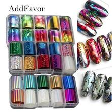 Kit Decoration Transfer-Sticker Nail-Foil Holo Manicure Laser Starry Addfavor Sky Wraps