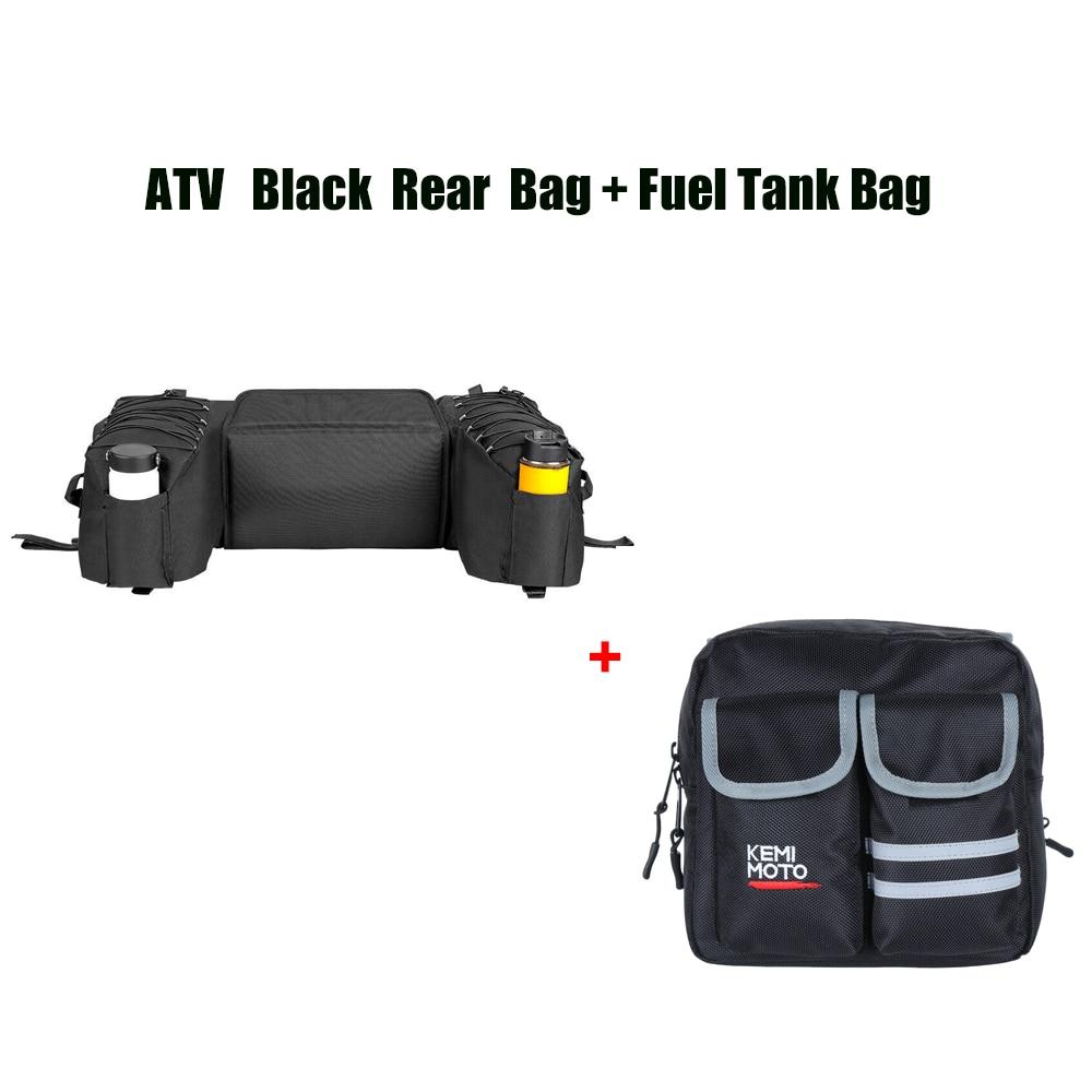 ATV Rear Rack Bag Package Storage + Motorcycles Fuel Tank Bag Saddlebag For Yamaha Big Bear 400 For Polaris 300 For Can Am