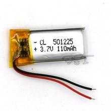 10 sztuk 3.7V bateria litowo-polimerowa 501225 akumulator litowo-jonowy 110mAh dla MP5 navigator GPS MP3 MP4 Ebook głośnik kamera