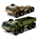 1:12 8 X 8 R/C 2.4G Electric Remote Control Militray Truck CAR Model All Terrin Truck Kit - Sound And Light Version Olive Drab