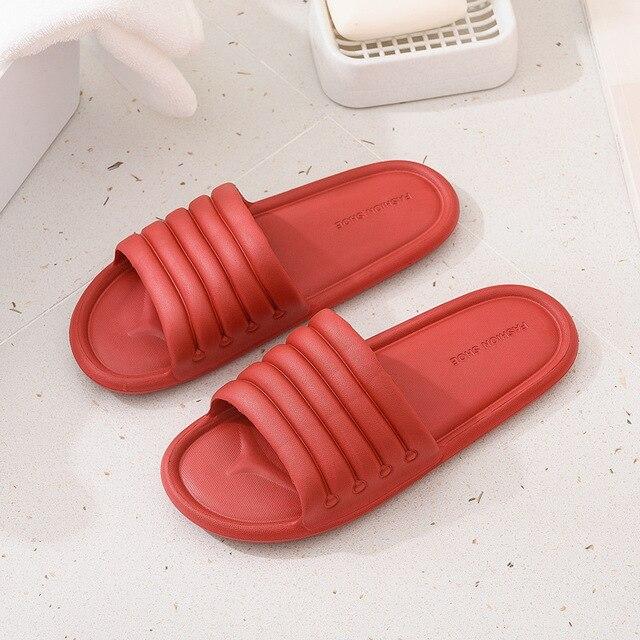 Verão feminino interior chinelos chão sapatos planos indoor eva flip flops feminino antiderrapante casa de banho chinelos zapatillas de hombre 6