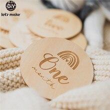 赤ちゃん記念マイルストーン木材4pc/14pcチップ写真の小道具diyの小道具新生児ギフトレタリング記念コイン