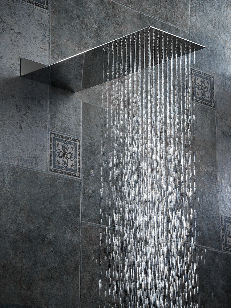 BAKALA Bath-Faucet Shower-Head Rainfall Stainless-Steel High-Pressure Chuveiro Square