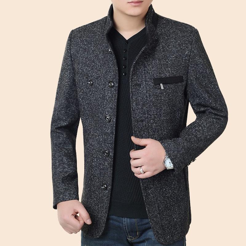BOco 2020men's Cloth Jacket Collar Of Autumn New Fund Long Casual Jacket