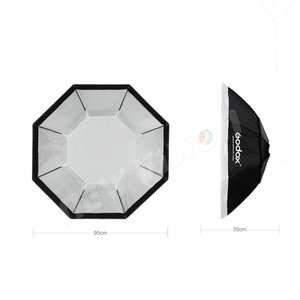 "Image 3 - Godox Pro 95 centimetri 37 ""Octagon Griglia A Nido Dape Softbox Riflettore Softbox con Bowens Mount per Studio Strobe Flash Light"