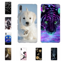 For Sony Xperia L3 Phone Case Thin Soft TPU Silicone Cover Cute Animal Patterned Funda