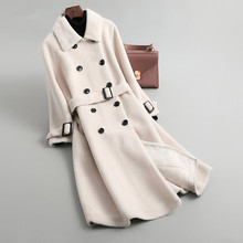 Winter Coat Women Real Fur Coat Female Sheep Shearling Jacke