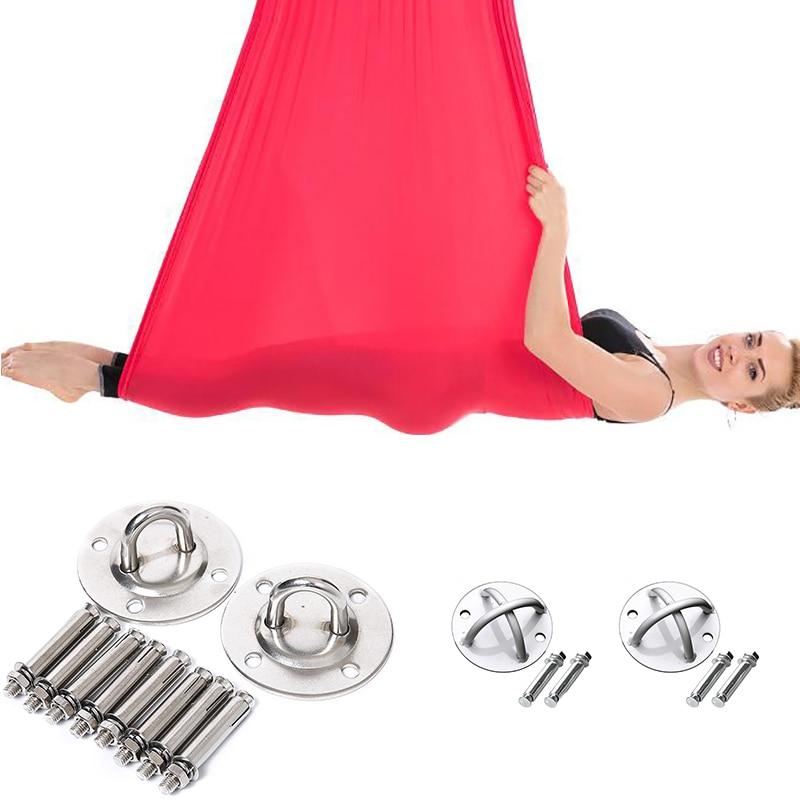 Aerial Silks Equipment Yoga Swing Silk Fabric Tissues Yoga Hammock Medium Stretch For Acrobatic Dance Aerial Silk Inversion Tool