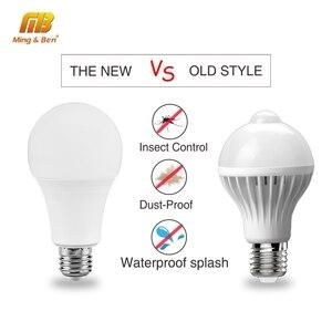 Image 4 - LED Sensor Light 7W 9W 12W E27 โคมไฟเหนี่ยวนำLED 110V 220Vหลอดไฟสีขาวlampadaสำหรับแสงในร่มBombillas