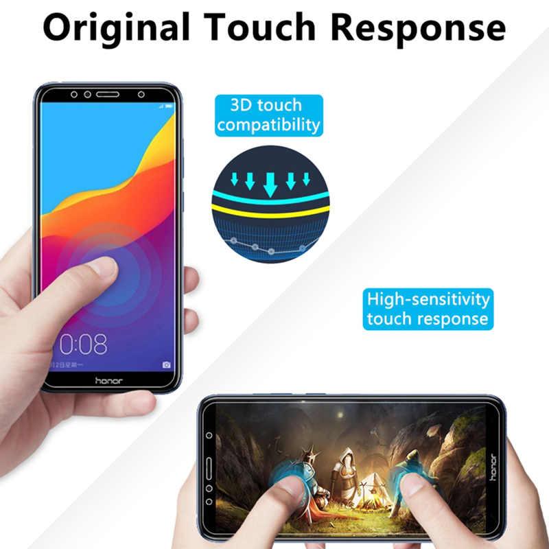زجاج مقسى من 3 قطع لهاتف هواوي 7C إصدار روسيا Y7 Y5 Y6 Prime 2018 Nova 2 Lite زجاج شاشة على Honor 7A Pro 7S زجاج