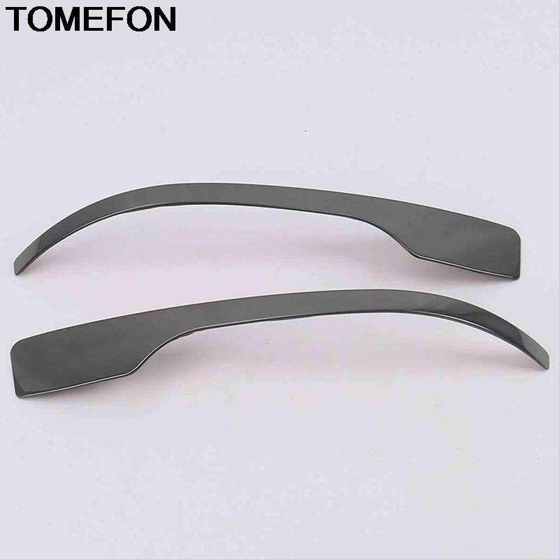 TOMEFON For <font><b>Hyundai</b></font> Tucson 2016 2017 2018 <font><b>2019</b></font> 2020 Car Side Door Rear View Mirror Anti Wipe Strip Cover Trim Accessories SS image