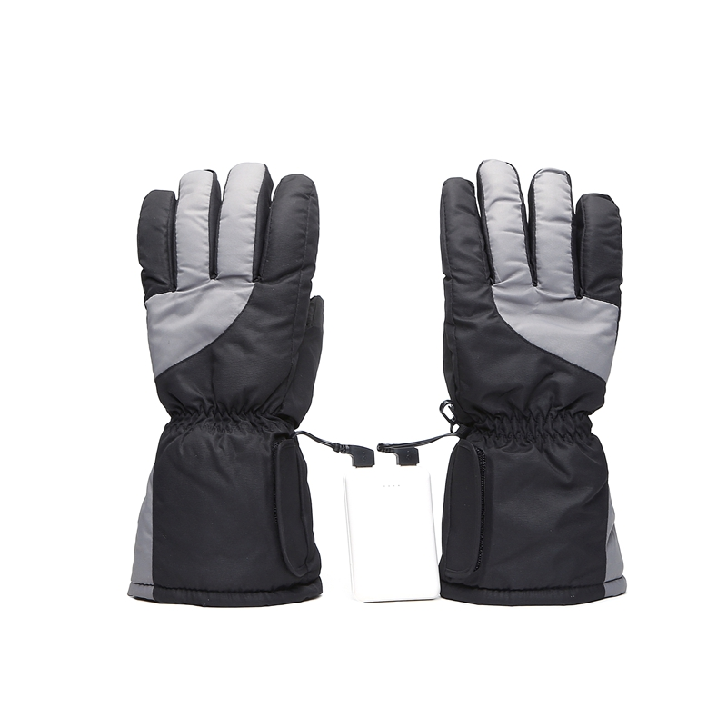 Electric Five Finger Ski Gloves 5Th Battery Heating Gloves Thickening Heating Gloves