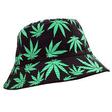 New style Women men Vogue Hemp Leaf Design Basin caps Maple leaves Bro