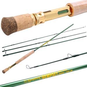 Image 2 - Sougayilang Удочка из углеродного волокна двойного использования 2,9 м, 4 секции, удочка для ловли нахлыстом, спиннинг, уличная удочка для ловли окуня