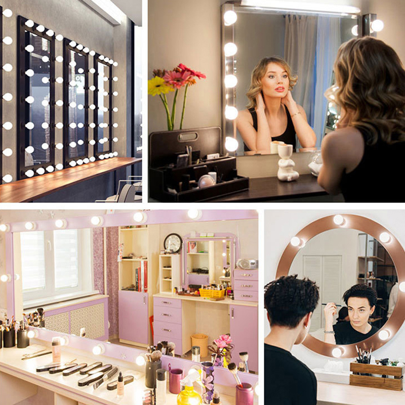 Mirror Light Vanity Mirror With Lights Led And Table Makeup Bulb 12V Plug Dimmable Touch Control Table Lighting Dressing decor 6